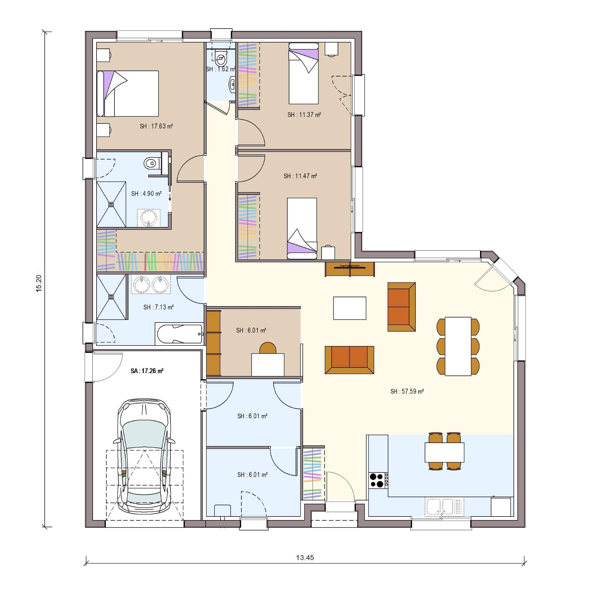 Plan De Maison 130m2 Infos Et Ressources 14