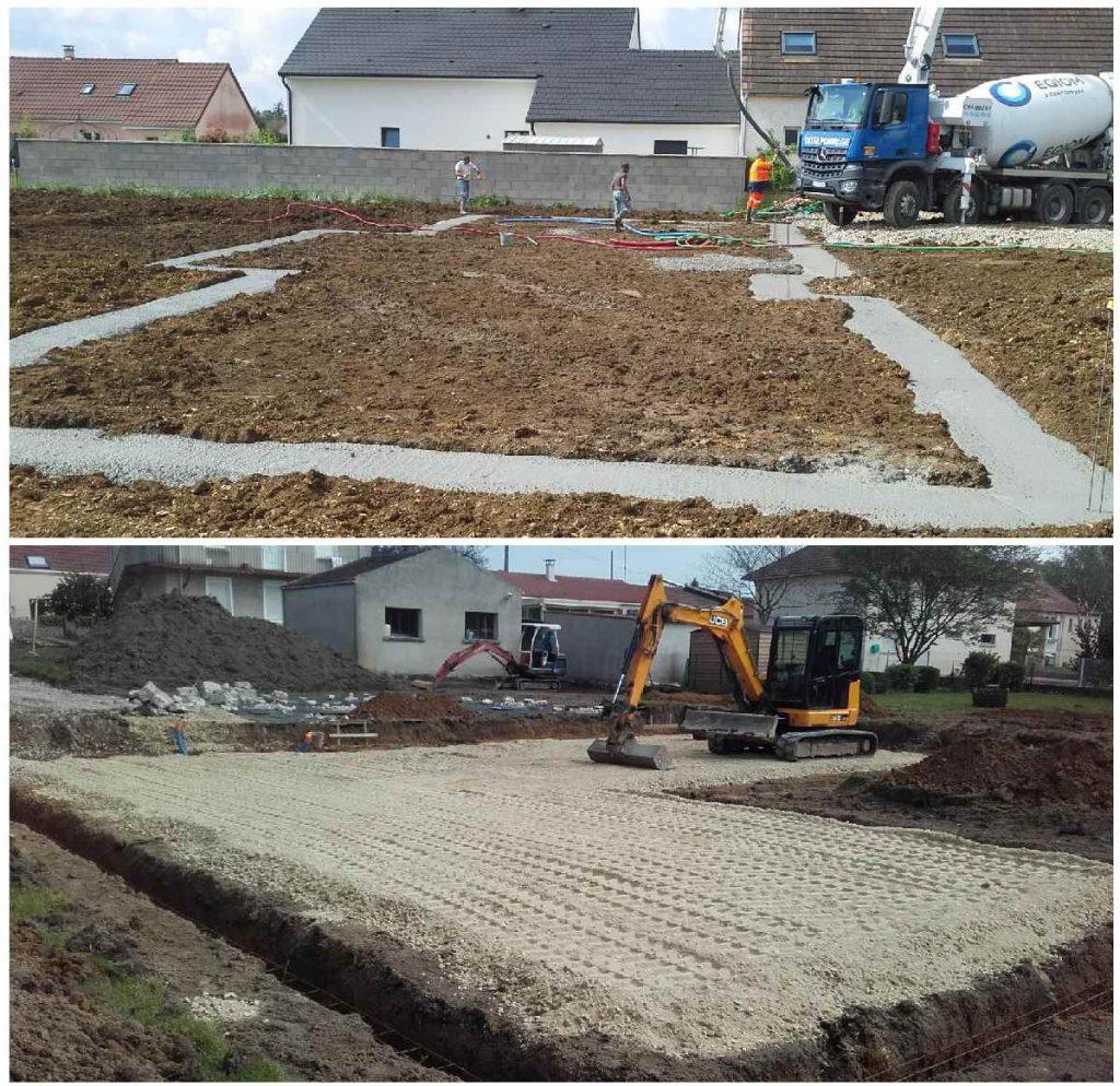 Ouverture de chantiers à Bligny les Beaune et Saint Vallier