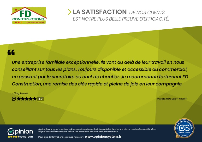 Nouvelle satisfaction clients à Montchanin