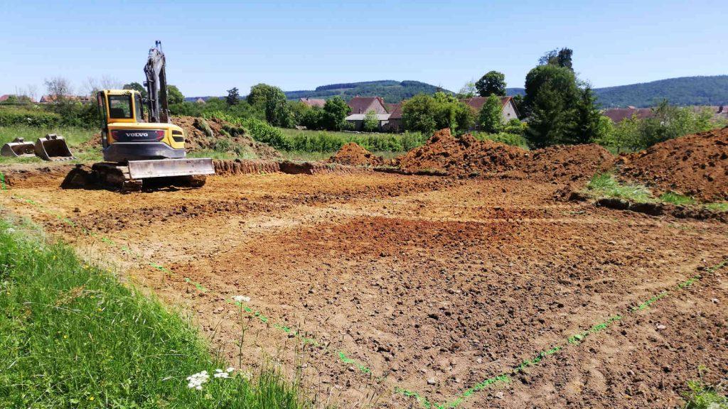 Démarrage d'une nouvelle construction à Autun