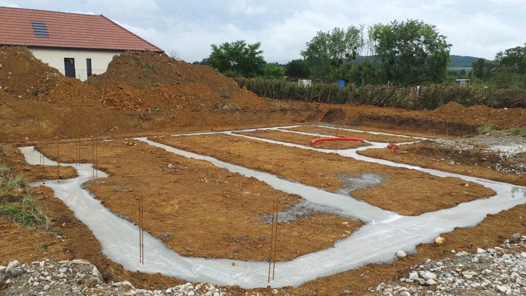 Fondations coulées à Buxy