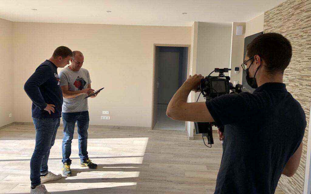 Tournage vidéo la 1000ème maison réceptionnée
